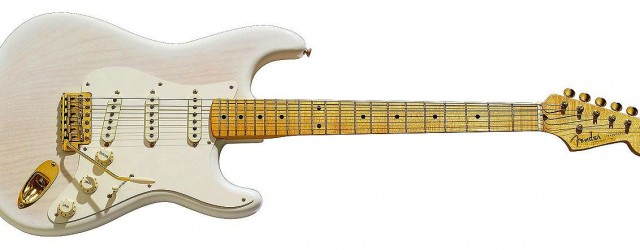 Here is a Mary Kay style strat. It is beautiful in it's old white finish with gold hardware.